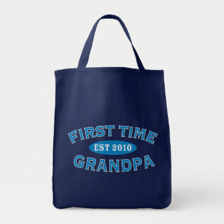 First Time Grandpa Grocery Tote Bag