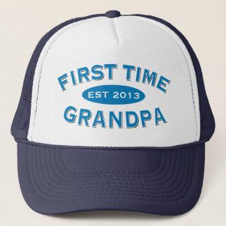 First Time Grandpa Customizable Hat