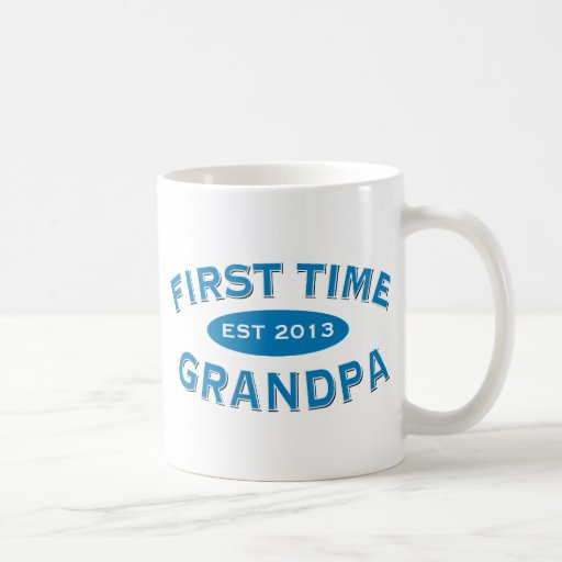 First Time Grandpa Customizable Mug