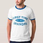 First Time Grandpa Customizable Tee