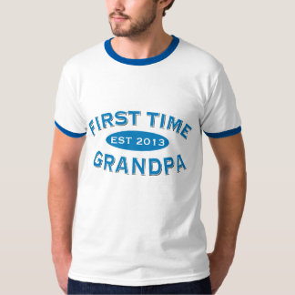 First Time Grandpa Customizable Tee