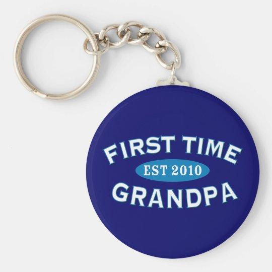 First Time Grandpa Keychain