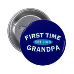 First Time Grandpa Pinback Buttons