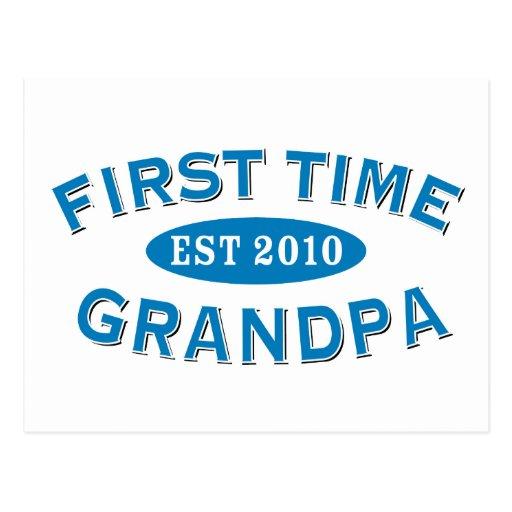 First Time Grandpa Postcard
