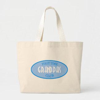 First Time Grandpas Club (Blue) Jumbo Tote Bag
