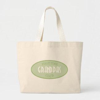 First Time Grandpas Club (Green) Jumbo Tote Bag