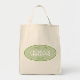 First Time Grandpas Club (Green) Grocery Tote Bag