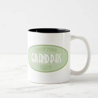 First Time Grandpas Club (Green) Two-Tone Coffee Mug