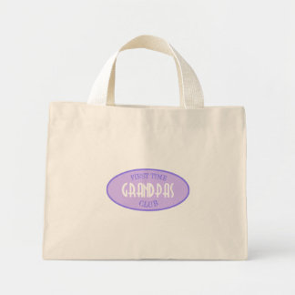 First Time Grandpas Club (Purple) Mini Tote Bag
