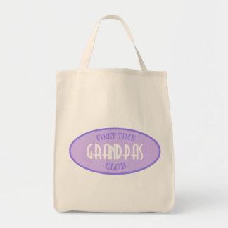 First Time Grandpas Club (Purple) Grocery Tote Bag