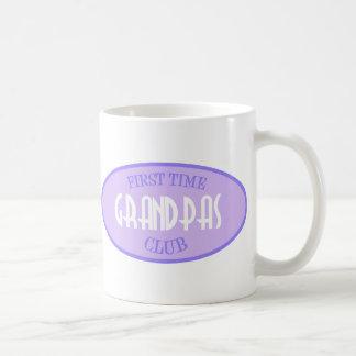 First Time Grandpas Club (Purple) Coffee Mug