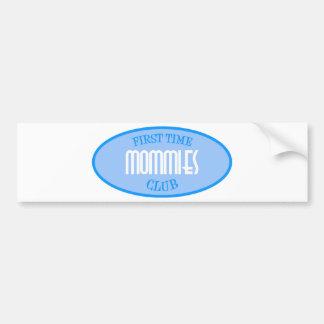 First Time Mommies Club (Blue) Car Bumper Sticker