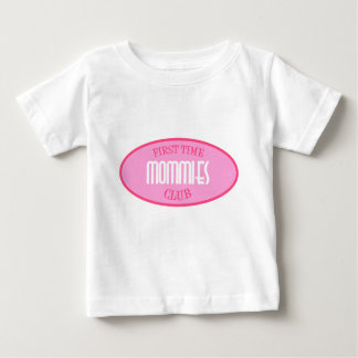 First Time Mommies Club (Pink) Baby T-Shirt