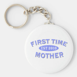 First Time Mother 2010 Basic Round Button Keychain