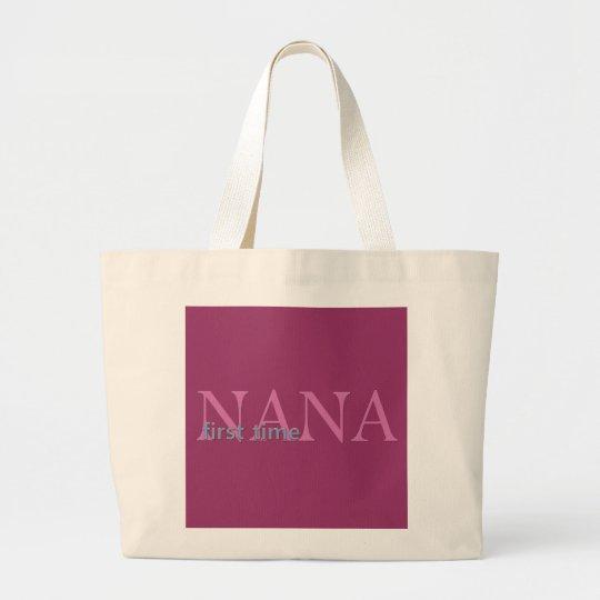 First Time Nana Large Tote Bag