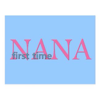 First Time Nana Postcard