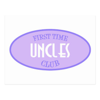 First Time Uncles Club (Purple) Postcard
