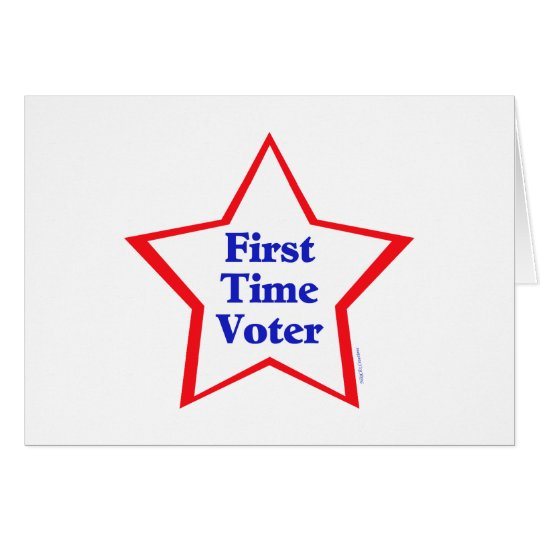 First Time Voter Card