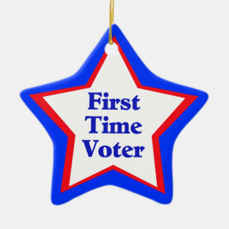First Time Voter Ceramic Ornament