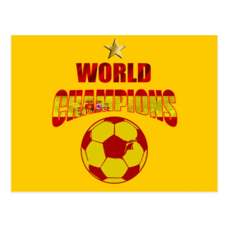 First time world champions Spain Postcard