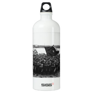 First to Fight A group of World War I Marines Aluminum Water Bottle