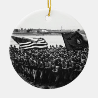 First to Fight A group of World War I Marines Ceramic Ornament