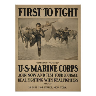 First to Fight - U.S. Marine Corps Poster
