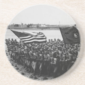 First to Fight United States Marine Corps 1918 Drink Coaster