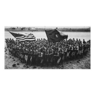 First to Fight United States Marine Corps 1918 Personalized Photo Card
