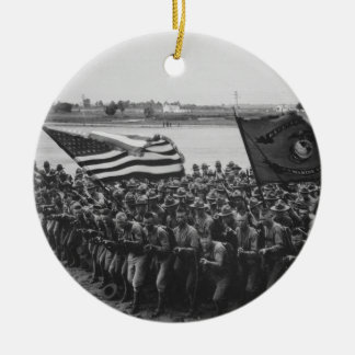 First to Fight - US Marines - 1918 Ceramic Ornament