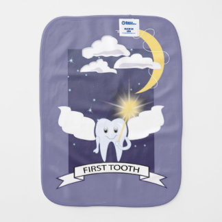 First Tooth - Tooth Fairy Baby Burp Cloth