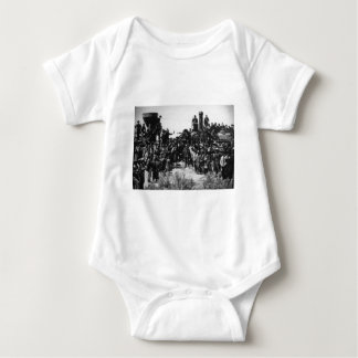 First Transcontinental Railroad Promontory Summit Baby Bodysuit