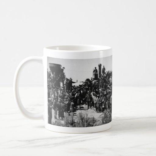 First Transcontinental Railroad Promontory Summit Classic White Coffee Mug