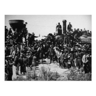 First Transcontinental Railroad Promontory Summit Postcard