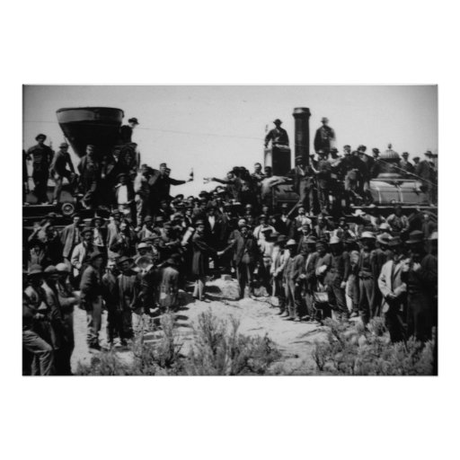 First Transcontinental Railroad Promontory Summit Poster