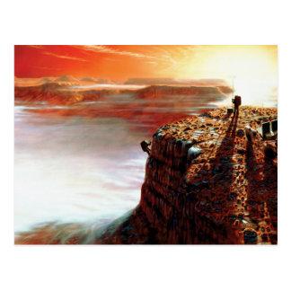 First Trip To Mars - Artist Concept Postcard