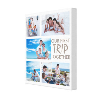 First Trip Together Photo Collage Canvas