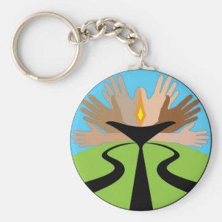 First Unitarian Church of Omaha Basic Round Button Keychain