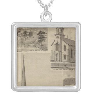 First Universalisty Church, Minneapolis, Minnesota Silver Plated Necklace
