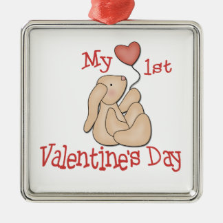 First Valentine Day Metal Ornament
