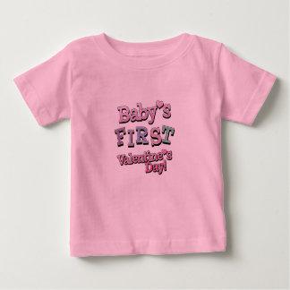 First Valentine Girl Baby T-Shirt