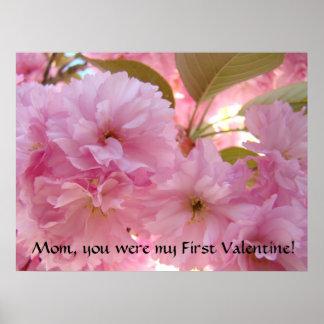 First Valentine MOM Gift Blossom Art Print Canvas