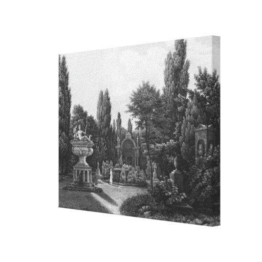 First view of the great garden canvas print