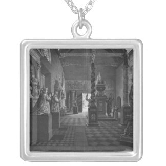 First view of the introductory room silver plated necklace