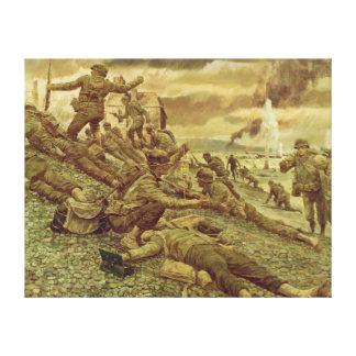 First Wave at Omaha by Ken Riley World War II Canvas Print
