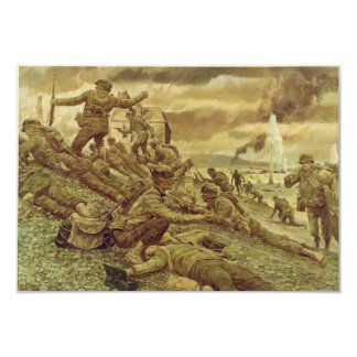 First Wave at Omaha by Ken Riley World War II Card