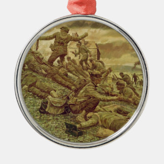 First Wave at Omaha by Ken Riley World War II Christmas Tree Ornaments