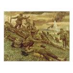 First Wave at Omaha by Ken Riley World War II Post Card