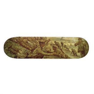 First Wave at Omaha by Ken Riley World War II Skateboard