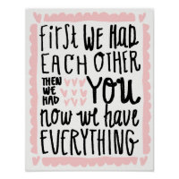 First We Had Each Other Nursery Decor